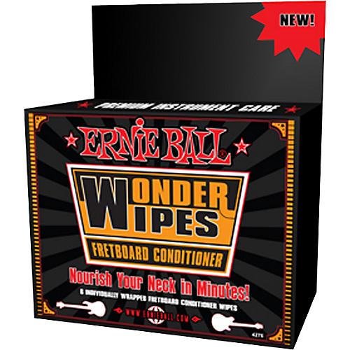 Ernie Ball Wonder Wipe Fretboard Conditioner 6-pack