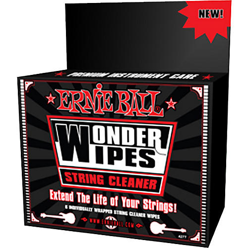 Ernie Ball Wonder Wipe String Cleaner 6-pack-thumbnail