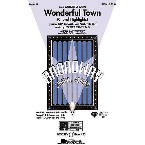 Hal Leonard Wonderful Town (Choral Highlights) SATB Arranged by John Purifoy
