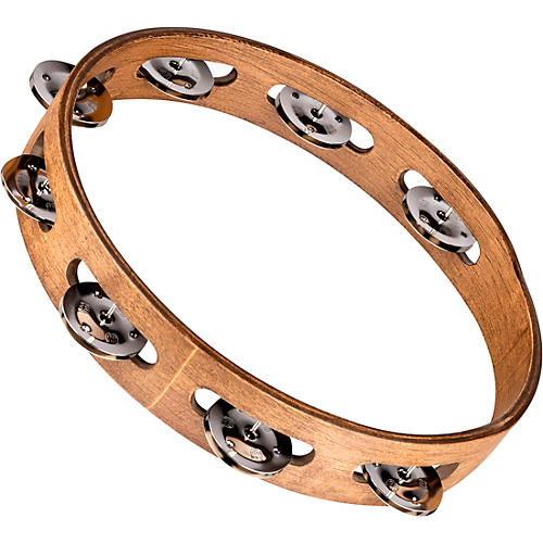 Meinl Wood Tambourine with Single Row Stainless Steel Jingles