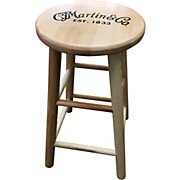 Martin Wooden Ash Logo Bar Stool