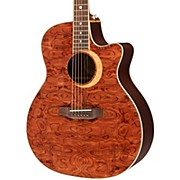 Luna Guitars Woodland Series Bubinga Cutaway Acoustic-Electric Guitar