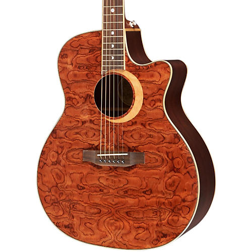Luna Guitars Woodland Series Bubinga Cutaway Acoustic-Electric Guitar-thumbnail