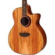 Luna Guitars Woodland Series Spalted Maple Acoustic-Electric Guitar