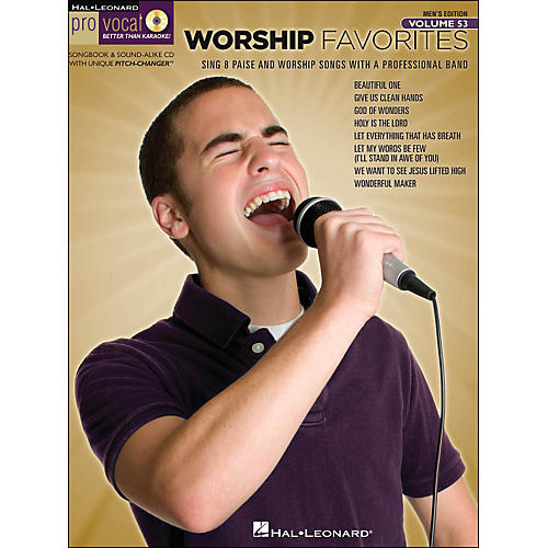 Hal Leonard Worship Favorites - Pro Vocal Songbook & CD for Male Singers Volume 53-thumbnail