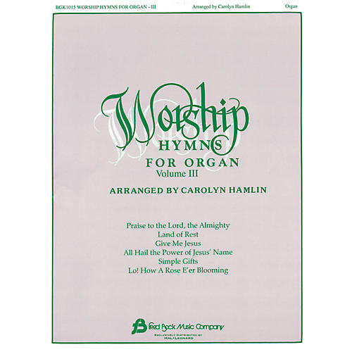Hal Leonard Worship Hymns For Organ - Volume 3-thumbnail