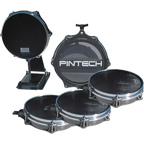 Pintech Woven Head Snare Drum, Tom, and Kick Pad Set-thumbnail
