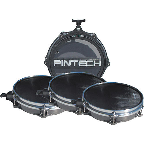 Pintech Woven Head Snare Drum and Tom Pad Set