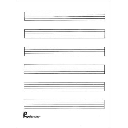 Music Sales Writing Pad #15 6 Stave Extra Wide, 40 Shts, 8X10.5-thumbnail