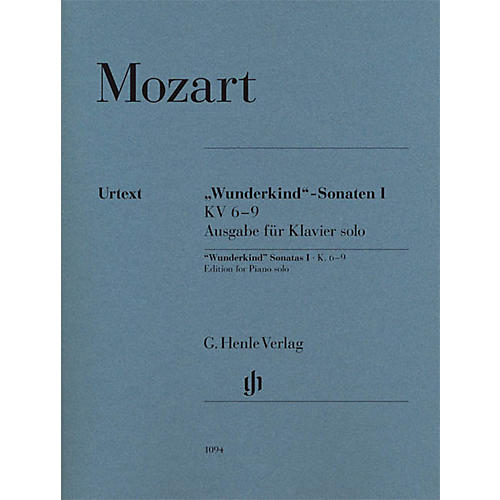 G. Henle Verlag Wunderkind Sonatas, Vol 2, K. 10-15 Henle Music Softcover by Mozart Edited by Wolf-Dieter Seiffert