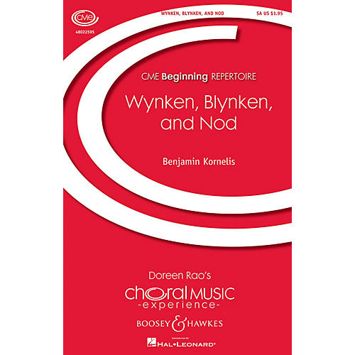 Boosey and Hawkes Wynken, Blynken, and Nod (CME Beginning) SA composed by Benjamin Kornelis