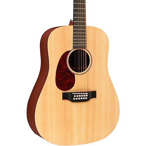 Martin X Series 2015 D12X1AE Left-Handed Dreadnought Acoustic-Electric Guitar Natural