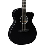 Martin X Series OMCXAE Black Orchestra Model Acoustic-Electric Guitar
