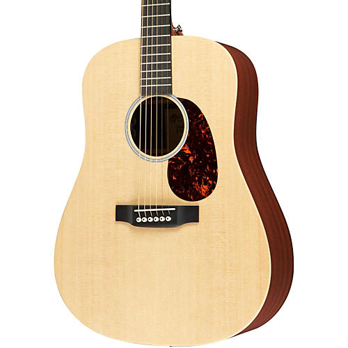 Martin X Series X1-DE Custom Dreadnought Acoustic-Electric Guitar Natural Solid Sitka Spruce Top