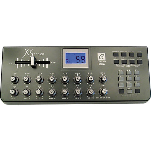 Evolution X-Session USB MIDI Control Surface with Crossfader