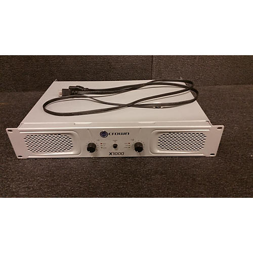 used crown x1000 stereo 2x300w power amp guitar center. Black Bedroom Furniture Sets. Home Design Ideas
