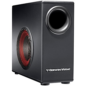 Cerwin-Vega XD8s 8 inch Powered Subwoofer with Remote Control by Cerwin Vega