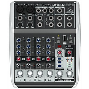 Behringer XENYX QX602MP3 6-Channel Mixer with MP3 Player by Behringer