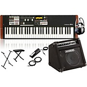 Hammond XK-1c Portable Organ with Keyboard Amplifier, Stand, Headphones, Bench, and Sustain Pedal