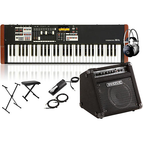 Hammond XK-1c Portable Organ with Keyboard Amplifier, Stand, Headphones, Bench and Sustain Pedal-thumbnail