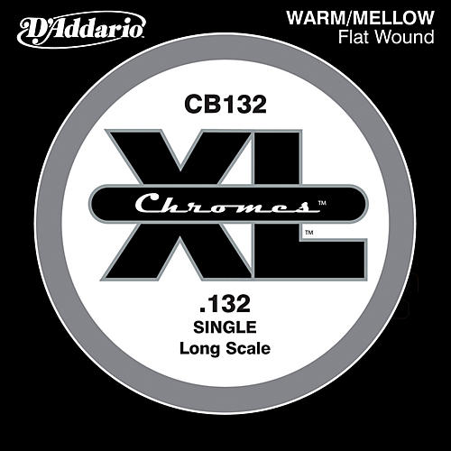 D'Addario XL Chromes CB132 Single Flat Wound .132
