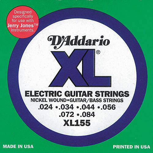 D'Addario XL155 Jerry Jones XL Electric Guitar/Bass Strings-thumbnail