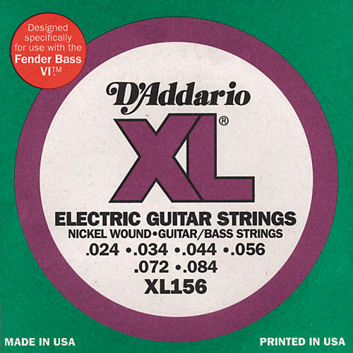 D'Addario XL156 XL 6-String Guitar / Bass Strings