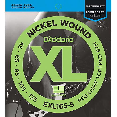 D'Addario XL165-5 - Electric 5-String Bass Guitar Strings