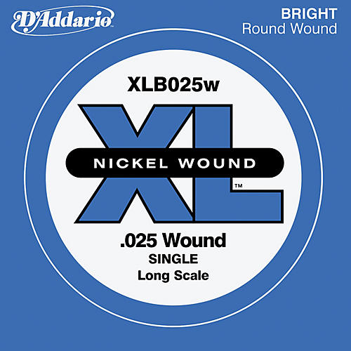 D'Addario XLB025W XL Nickel Wound Long Scale .025 Electric Bass String-thumbnail