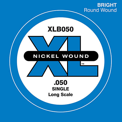 D'Addario XLB050 Nickel Wound Electric Bass Single String-thumbnail