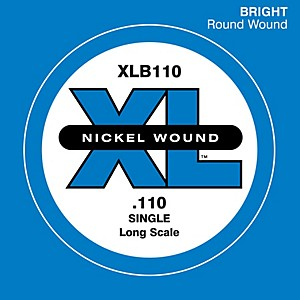 Daddario XLB110 Extra Long Single Bass String by D'Addario
