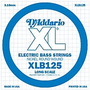 D'Addario XLB125 Nickel Wound Electric Bass Single String