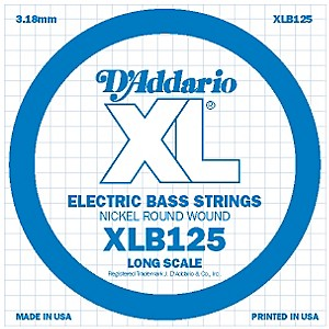 Daddario XLB125 Nickel Wound Electric Bass Single String by D'Addario