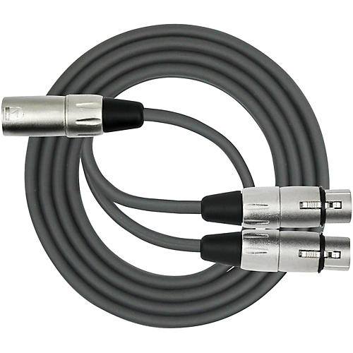 KIRLIN XLR Male to Dual XLR Female Y-Cable  6 ft.