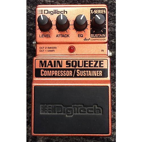 Digitech XMS Main Squeeze Compressor/Sustainer Effect Pedal