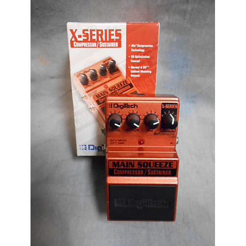 Digitech XMS Main Squeeze Compressor/Sustainer Effect Pedal-thumbnail