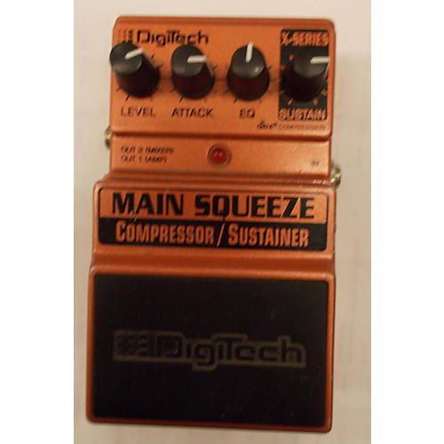 Digitech XMS Main Squeeze Compressor/Sustainer Metallic Orange Effect Pedal