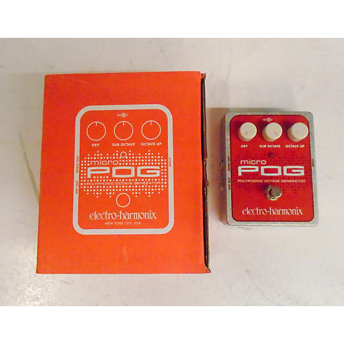 Electro-Harmonix XO Micro POG Polyphonic Octave Generator Effect Pedal-thumbnail