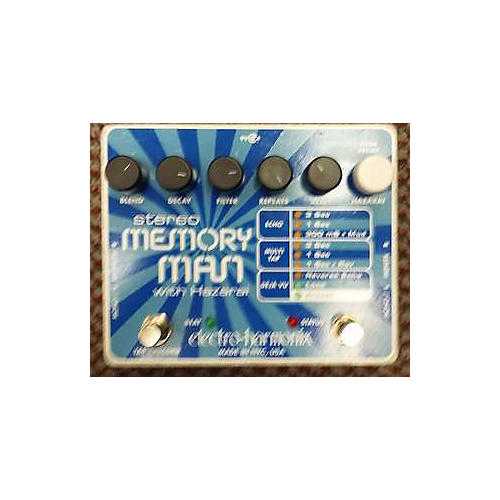 Electro-Harmonix XO Stereo Memory Man With Hazarai Delay Effect Pedal