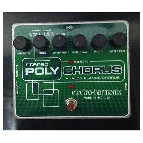 Electro-Harmonix XO Stereo Polychorus Analog Flanger And Chorus Effect Pedal