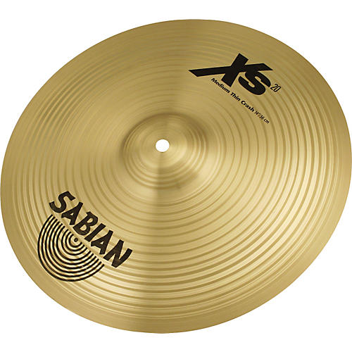 Sabian XS20 Medium Thin Crash Cymbal, Brilliant-thumbnail