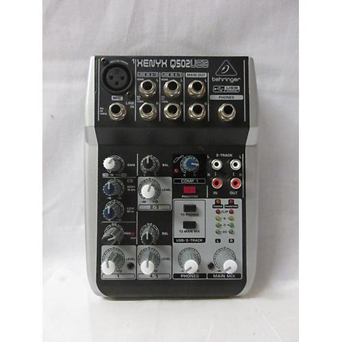 used behringer xenyx q502usb unpowered mixer guitar center. Black Bedroom Furniture Sets. Home Design Ideas