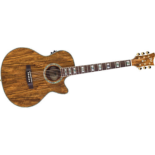 ESP Xtone Exotic Wood Cutaway Acoustic-Electric Guitar-thumbnail