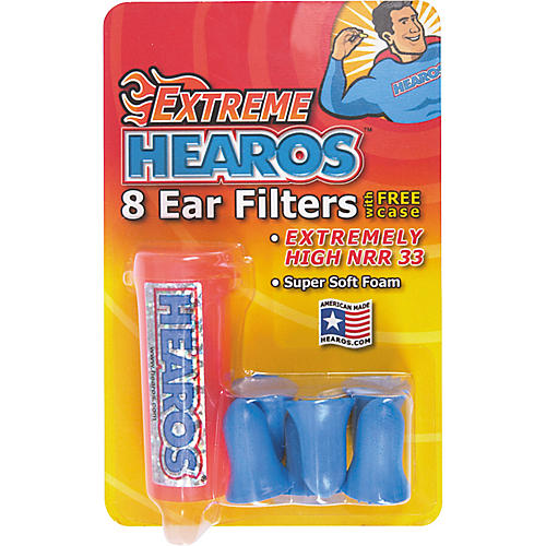 Hearos Xtreme 8-Pack Ear Filters with Case