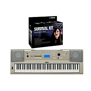 Yamaha YPG-235 76 Key Portable Grand Piano Keyboard with D2 Survival Kit by Yamaha