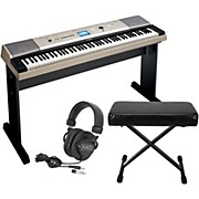 Yamaha YPG-535 88-Key Portable Grand Piano Keyboard with Bench and Headphones