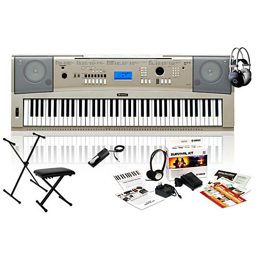 yamaha ypg235 with m80 mkii bench stand sustain pedal guitar center. Black Bedroom Furniture Sets. Home Design Ideas