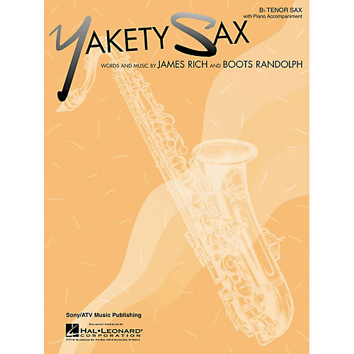 Hal Leonard Yakety Sax for B Flat Tenor Saxophone with Piano Accompaniment Songbook-thumbnail