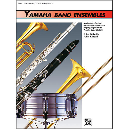 Alfred Yamaha Band Ensembles Book 1 Percussion