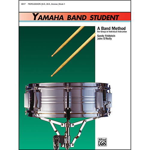 Alfred Yamaha Band Student Book 1 PercussionSnare Drum Bass Drum & Accessories-thumbnail